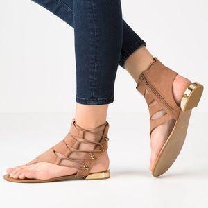 Aldo Athena Gladiator Suede Flat Sandals
